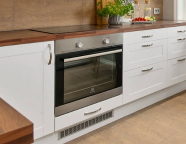Image of silver oven in kitchen